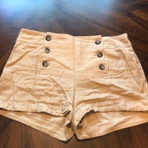 Forever 21 vintage style linen blend shorts